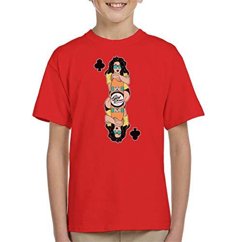 Sci Girl Fi Kostüm - Skater Girl Playing Card Kid's T-Shirt