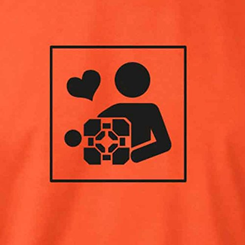 TEXLAB - Cube Love - Langarm T-Shirt Dunkelblau