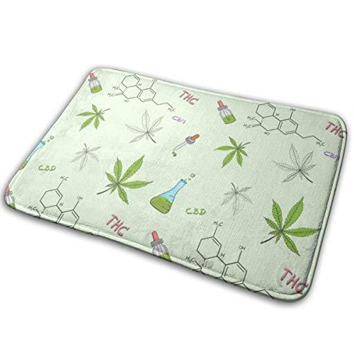 Bunte Fußmatte Schlafzimmer Küche Cannabis oder Hanföl lustige Print Fußmatte Fußmatten 16 X 24 Zoll