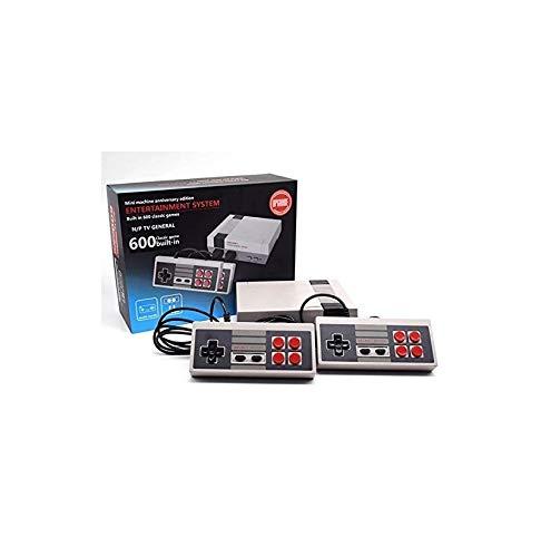 Retro Konsole Spielekonsole Klassisches Familienspiel Konsolen Berufs Eingebautes 600 Fernsehapparat Videospiel Spielebox mit Doppelsteuerpulten (HDMI HD Edition Europe Standard)