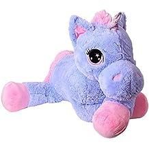 TE-Trend Caballo De Peluche Caballo XXL unicornio unicornio tendida 130cm Púrpura o Fucsia con