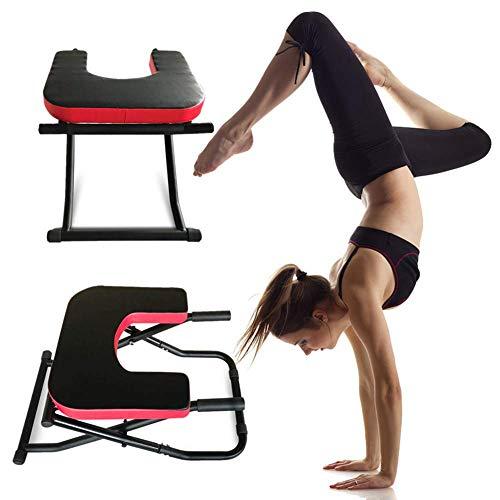 Kopfstandhocker, Faltbar Yoga Handstand Bench -Stand Yoga Stuhl - Holz Und PU-Pads, Für Familie, Gym -