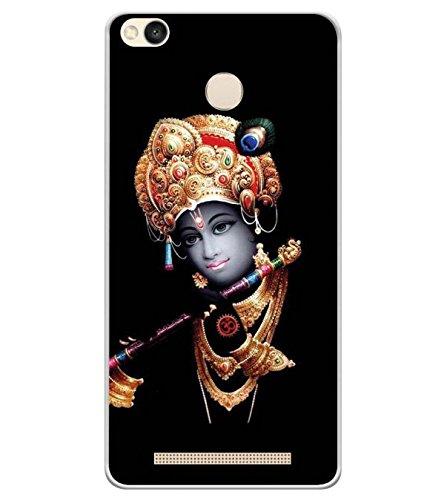 YuBingo Soft Silicone Back Case for Redmi 3S Prime (with Sensor) | Lord Krishna | Designer UV Printed Mobile Cover | Shockproof | 360 Coverage | Slim | Light