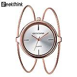 Montres pour des femmes, Geekthink Quartz Analog Watch montre bracelet ouvert en...