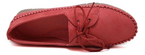 Fangsto  Boat Shoes, Ballet fille femme red