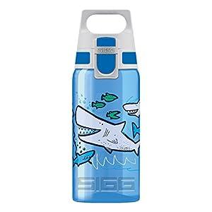 SIGG VIVA ONE Kinder Trinkflasche (0.5l), schadstofffreie Kinderflasche mit auslaufsicherem Deckel, einhändig bedienbare Wasserflasche