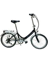 "Cicli Adriatica Bicicleta Plegable 20"" 6V Negro"