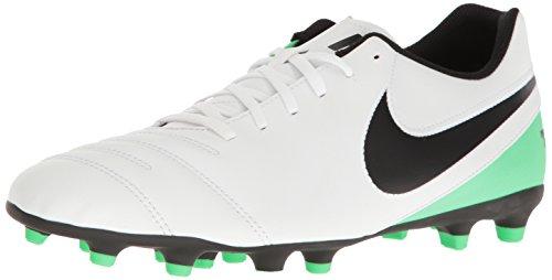Nike Tiempo Rio III Fg, Scarpe da Calcio Uomo, Bianco (White/Black-Electro Green), 45 EU