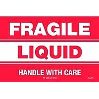 Polar Tech SCL211 - Lote de etiquetas para calderas y paquetes pequeños, mango líquido frágil con cuidado, 7,6 cm de largo, 5 cm de ancho
