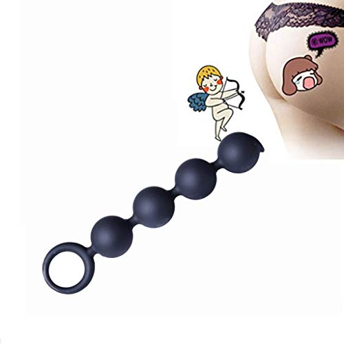 Expande-min Handheld Pull Beads mit Pull Ring Silikon Body Massage Tools wasserdicht schwarz XM1209-7-13-17 -