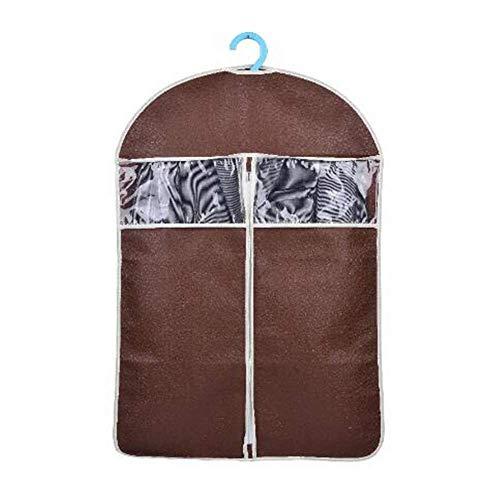Ordnungsbox faltbox Kleidersäcke Mantel Staubschutzhülle Aufbewahrungstasche Anzughülle Staubschutzhülle Kleidung Weinrot mittlerer Rock groß kleiderschrank Large Coffee (Tablet-cinch-7 Tastatur Mit)