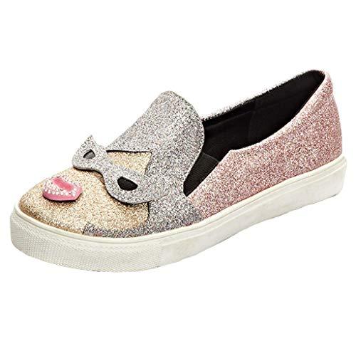 Ears Frauen Round Toe Schuhe Beiläufig Römische Schuhe Lässige Böhmische Schuhe Plus Größe Strand Sandalen Solid Sandalen Casual Knöchel Shallow Bling Lazy Loafer Slip On Cartoon Schuhe (Trenchcoat Teen)