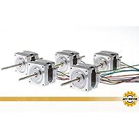 ACT Motor GmbH 5 Stück Nema16 Linear Schrittmotor 16HSL3404 12V 0.01 Step 100mm linear Stepper Motor