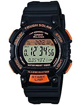 Casio Collection – Damen-Armbanduhr mit Digital-Display und Resin-Armband – STL-S300H-1BEF