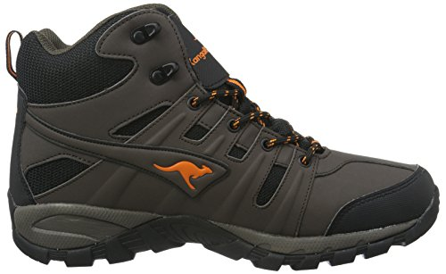 KangaROOS K-Outdoor 8089, Bottes de Randonnée Homme Marron - Braun (Dk Brown/Orange 370)