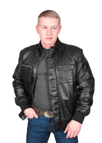 Herren Neueste Einbau Designer Style Bomberjacke RYAN Schwarz - 4