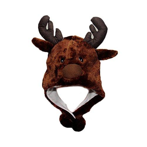 FY Neuheit Niedlichen Unisex Erwachsene Kinder Weihnachtsmützen Nikolausmützen Panamahüte Elch Hüte Mützen Halloween Cosplay Verkleiden Spielzeug ()
