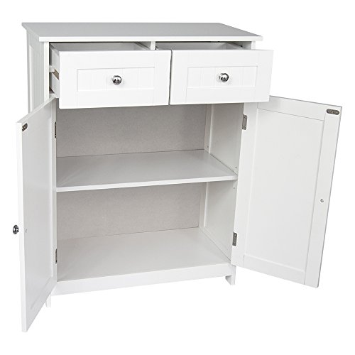 Cool Home Discount Priano 2 Drawer 2 Door Bathroom Cabinet Storage Cupboard Floor Standing Unit White Save Money Every Day Home Interior And Landscaping Oversignezvosmurscom