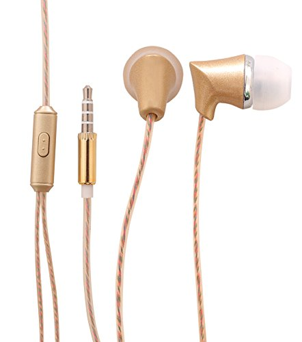 Oppo 1201 Compatible 100 % Original Metal Headphones Golden WIth Mic Universal Earphones, Handsfree Headset With Super Bass And Music Equalizer(Assorted color)