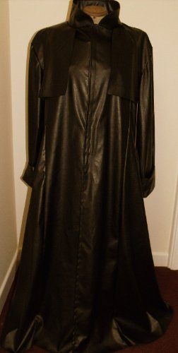 (NEW! LGE Brown faux leather Duster Coat Matrix/Neo/Morpheus Style Costume/Overcoat)