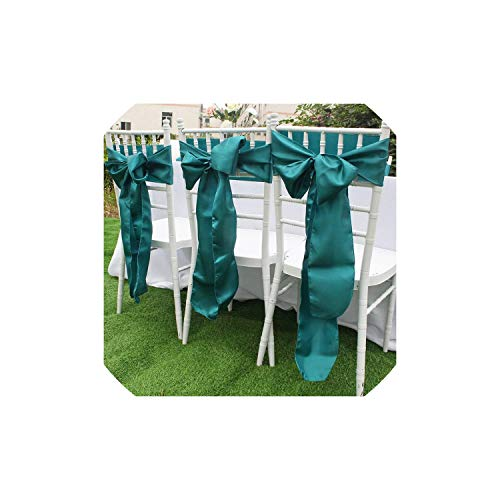 Gezellig Vesper Farbiger Stoff Satin Seide Tischläufer Sacklappen Stuhlschärpen Servietten Cover Tuch Hochzeit Tisch Party Zubehör Dekoration, Teal Blue Sash, 275x15cm