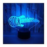 Best Guitarra de la Media Luna - Luz Nocturna Guitarra 3D Colorido Ub Touch Interruptor Review