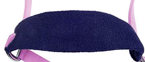 HKM Nylonhalfter mit weicher Polarfleece Polsterung, pink/dunkelblau, Warmblut
