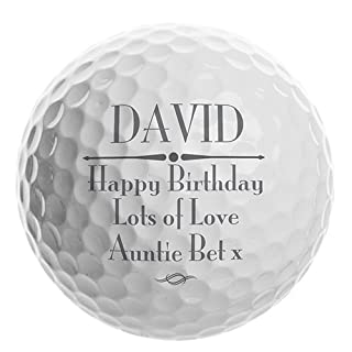 Personalised Message Golf Ball Gift by A1 PERSONALISED GIFTS