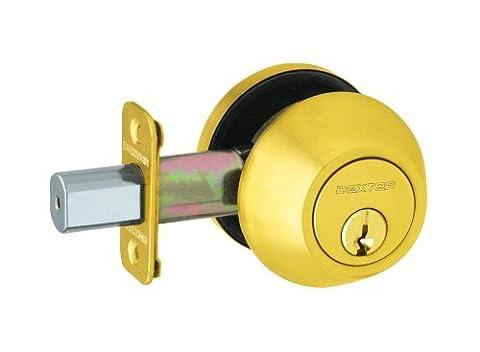 Dexter by Schlage JD60605 Single-Cylinder Deadbolt, Bright Brass by Schlage Lock Company