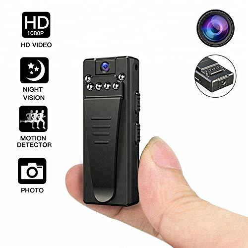 Mini telecamera,dexilio fotocamera digitale 1080p ad alta definizione, con rilevazione del movimento/visione notturna /, può essere utilizzata per riunioni/lezioni ,include la scheda di memoria 32gb