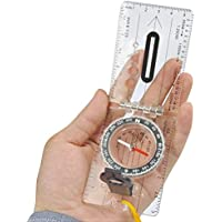 OFNMY Foldable Navigation Compass for Explorer Map Reading - for Expedition, Orienteering, Survival Mountaineering, Hiking - Fully Waterproof and Adjustable Declination