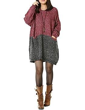 Mrs Duberess - Camiseta de tirantes - Túnica - Básico - Cuello redondo - para mujer