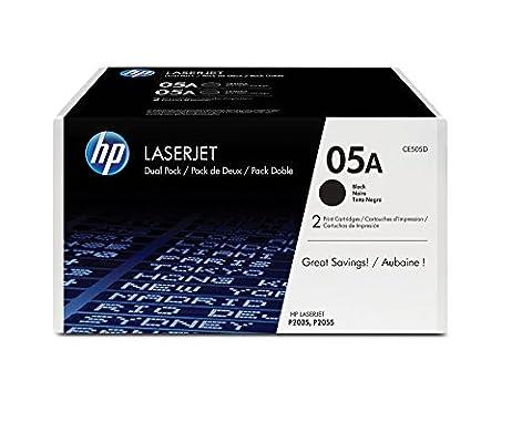 HP 05A 2-pack Black Original LaserJet Toner Cartridges (CE505D)