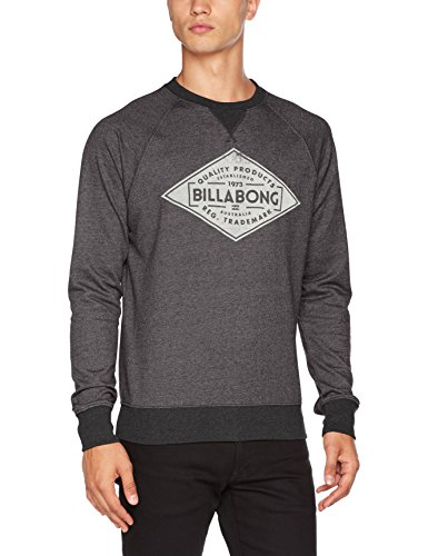 Billabong Herren Bogus Crew Sweatshirt, Blau Grau (dark grey heather)