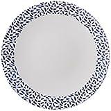 Blanco & francés azul marino diseño de Dash–Plato llano–Mix & match gama–Atractivo, ligero pero resistente de melamina Picnic/barbacoa/buffet plato al aire libre–26cm