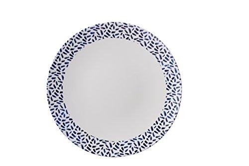 Bianco e blu navy Dash design–Piatto–Mix & Match Range–accattivante, leggero ma resistente melamina picnic/barbecue/buffet piatto–26cm