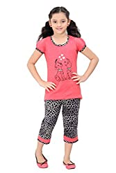 Girls Cotton Night Suit By Red Ring