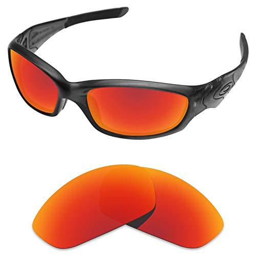 sunglasses restorer Ersatzgläser für Oakley Straight Jacket (Polarisierte Ruby Red Linsen)