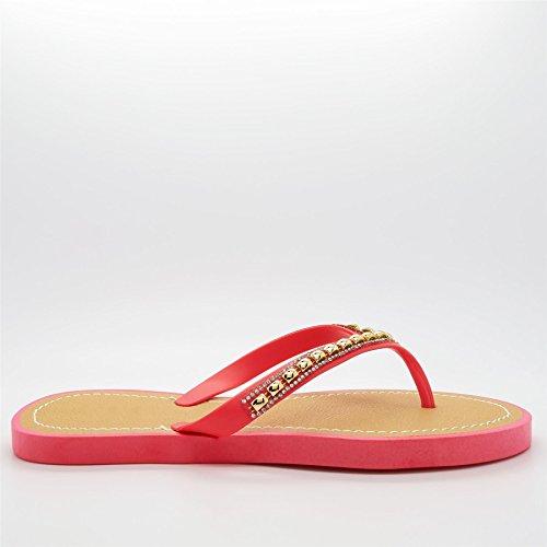 London Footwear - Retro aperto donna Rosa (Corallo)