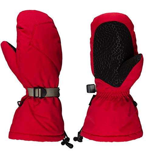 Ywlanlantrading Handschuh Winter-warme thermische Handschuhe des Winters Unisex Wasserdichte Sporthandschuhe 14inch (Color : Red, Size : L) (Handschuhe Thermische Winter)