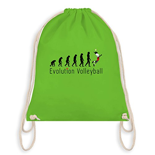 Evolution - Volleyball Evolution - Unisize - Hellgrün - WM110 - Turnbeutel & Gym Bag