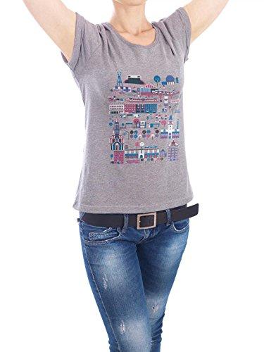 """Design T-Shirt Frauen Earth Positive """"Berlin-Prenzlauer Berg"""" - stylisches Shirt Städte Städte / Berlin von Marius Rehmet Grau"""