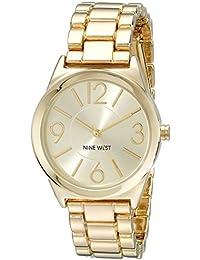 Nine West NW/1662CHGB - Reloj para mujeres color dorado