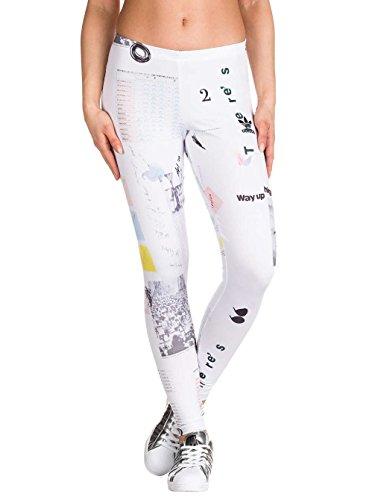 adidas Damen IP Aop Leggings, Mehrfarbig-(Multco), 38