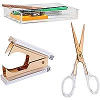 Draymond historia acrílico elegante papelería para año nuevo–Tijeras y quitagrapas y soporte para bloc de notas (DS escritorio papelería)