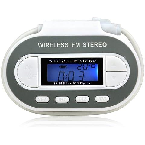 TRIXES Transmisor FM estéreo inalámbrico y digital, radio con pantalla LCD para iPhone, iPod o MP3 con cargador de coche