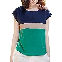 Vobaga - Chiffon Shirt - Manica Corta Camicia - (T-shirt Manica Lunga Camicia Verde)