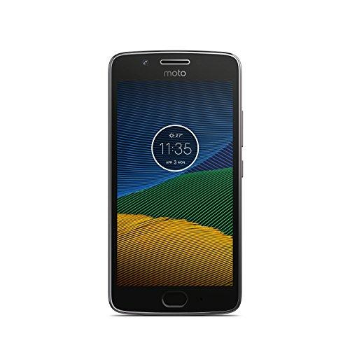 Motorola Moto G5 Smartphone Débloqué 4G (Ecran: 5 pouces - 16 Go - Nano-SIM - Android) Gris