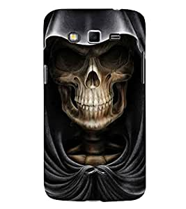 Skull with Hoodie 3D Hard Polycarbonate Designer Back Case Cover for Samsung Galaxy Grand Neo Plus I9060I