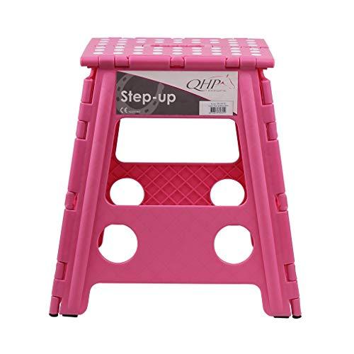 ARBO-INOX  Stallhocker Schemel Hocker Klapptritt Trittschemel Klapphocker QHP Anti-Rutsch-Fläche faltbar (rosa)